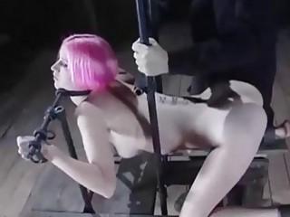 Submissive babe Cherry Torn pussy and tits tortured BDSM porn