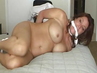 Curvy mature slut gets tied up and fucked BDSM porn