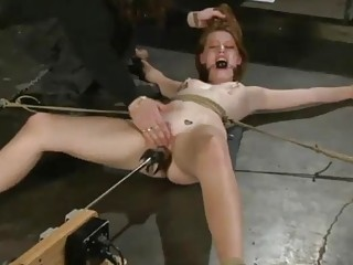 Pinky the pervert and his machine destroy a chick BDSM