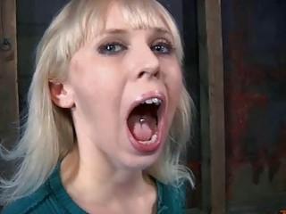 Blonde skank receives cruel and unusual punishment from mistress BDSM