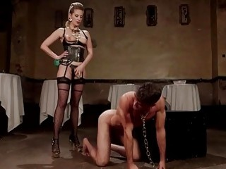 Submissive dude gets fucked up his ass by his mistress
