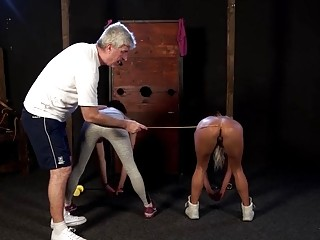 Blondie with big titties gets her cunt caned very hard