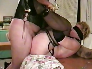 Chick with fat ass gets her little pussy teased gently