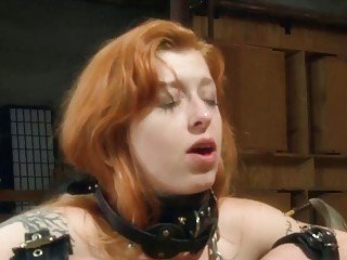 Skinny chick with small titties gets her pussy tortured hard