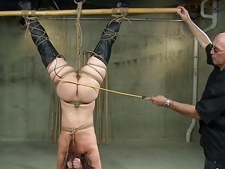 Anal slave gets her big fat ass spanked by master