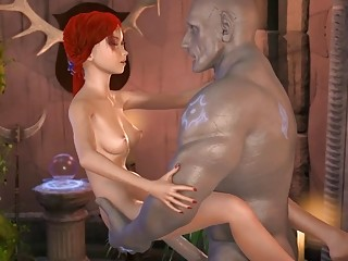 BDSM 3D animation sequence with a redhead getting wildly drilled