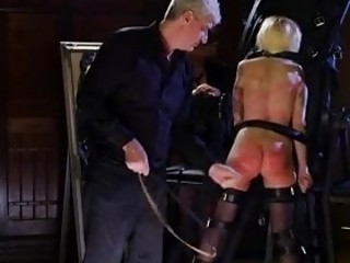 Slave receives punishment in whipping and rough toying BDSM porn