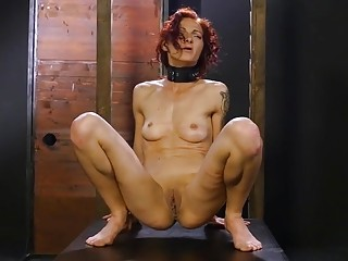 Chick with tight pussy gets whipped on her little thighs