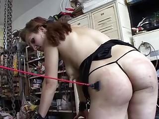 Sluty girl on a leash enjoys BDSM and interracial fuck