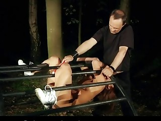Naughty girl has a fetish for BDSM and getting spanked