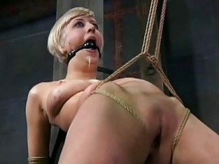 Extreme tie up session with a submissive slut BDSM porn