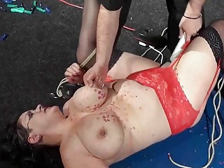 imposing and impeccable girl's pussy is dominated by men hard