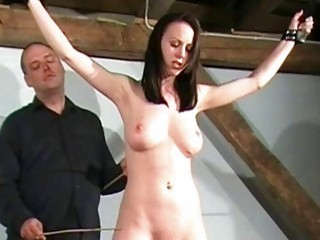 Kinky yet fiery brunette chick has her pussy dominated hard