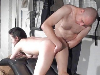 white bitch ass toyed with by a dominant male partner
