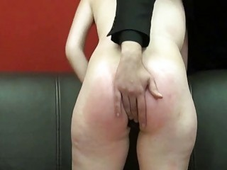 Playful BDSM sex with spanking and asshole teasing for girl