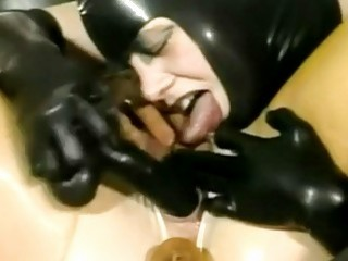Passionate false dick in BDSM action with German BDSM-loving girls