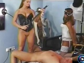 Mistress Rita Falyotano and her friends fuck a slave BDSM