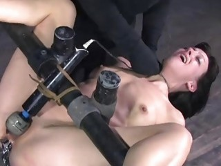 Elise Graves receives infernal restraints and gets toyed BDSM porn