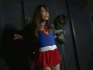 Superheroine gets tied up and gangbanged by evil perverts BDSM