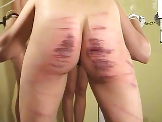 Busty bitches take hard beating from lezdom mistress BDSM porn