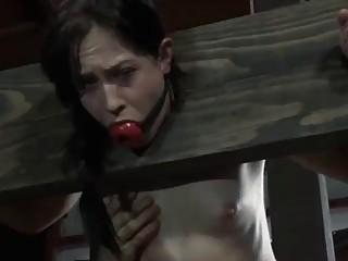 Cheyenne Jewel toyed hard while on a bondage device BDSM