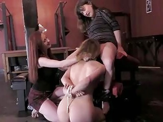 Naughty girl tortured by two lezdom mistresses BDSM fetish porn