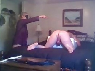 Fat slave whipped by freaky femdom mistress BDSM fetish porn