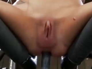 Sluts asshole totally destroyed by a fuck machine BDSM porn