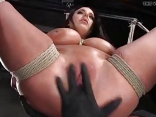 Roped bitch got her cunt toyed by master BDSM porn