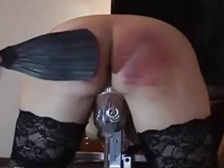 Bound slave receives cock torture and hard spanking BDSM porn