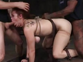 Busty ginger slut roped and fucked by master BDSM porn