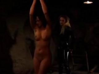 Lezdom mistress punishes her sub slut for betrayal BDSM porn