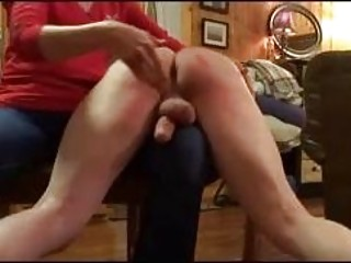 Silly slave endures cock slapping and spanking BDSM fetish porn