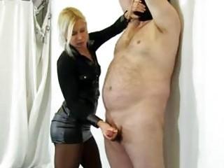 Fat fuck got his cock tortured by femdom BDSM mistress