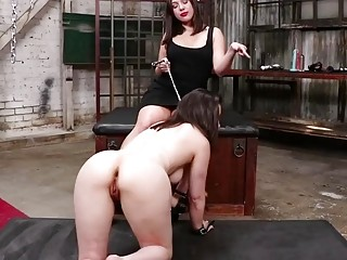 Skinny babe with a fat ass gets dildo inside ass