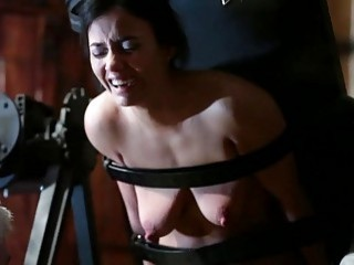 Cute chick gets tickled and then has nipples pulled on