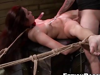 Getting that tight pussy fingered by a horny male dom