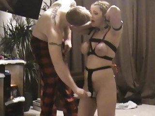 Girl is tortured with a magic wand by her master