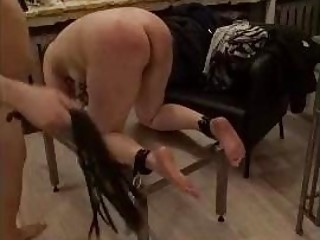 BDSM session with male spanking for a pathetic dude enjoying that