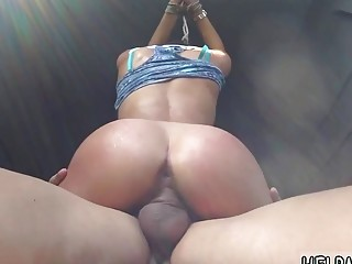 Gorgeous babe loves BDSM and riding dick with her pussy