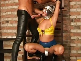 Submissive slave girl enjoys rough BDSM and hardcore maledom fuck