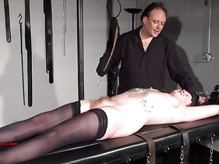 Inked BBW loves it when her master brings her pain