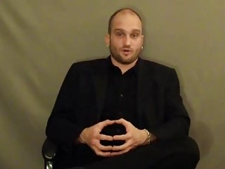 Attractive handsome guy talks about his BDSM and bondage fetish