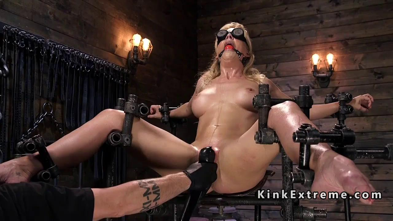 Bondage porn com Restrained Slave Toyed On The Bondage Device Bdsm Fetish Porn Bdsm One